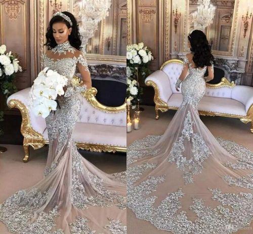 Medium Of Silver Wedding Dresses