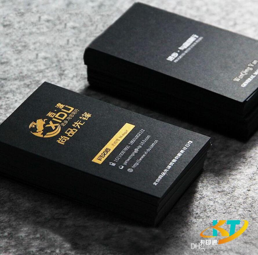 Solid Matt Black Business Cards Name Card Silver Golden Foil Stamp