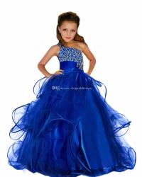 2017 Beaded Elegant Curvy Pageant Dresses For Girls Fluffy ...