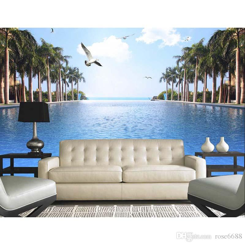 Home Decor Living Room Natural Art Customized Wallpaper For Walls - 3d wallpaper for living room