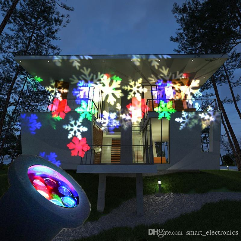 2018 Christmas Decoration Lamp Led Snowflake Spotlight Led - christmas decoration projector