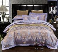 Luxury Purple Bedding Sets Lilac Violet Satin Duvet Cover ...