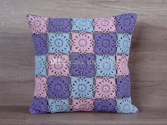 Granny Square Handmade Crochet Cushion Cover Pillow Case