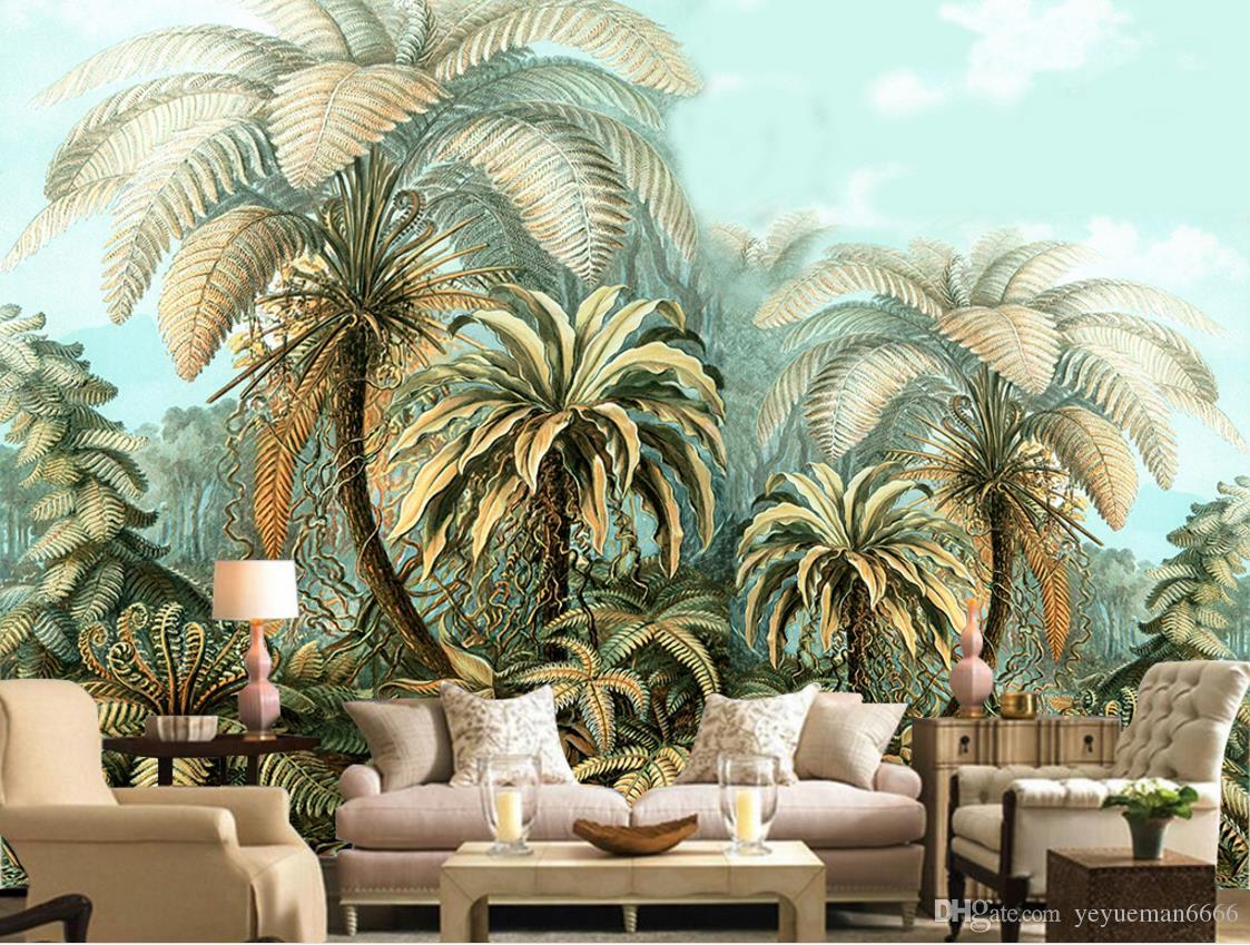3d Wallpapers Buy Online Large Backdrop 3d Wallpaper Mural Hand Painted Tropical