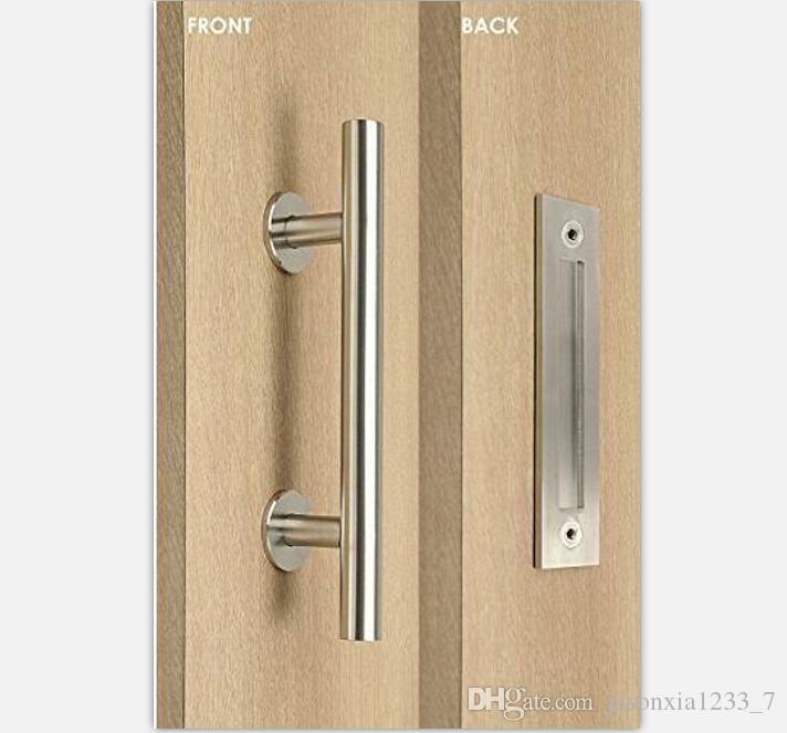 2017 stainless steel barn door handle pull amp wooden sliding