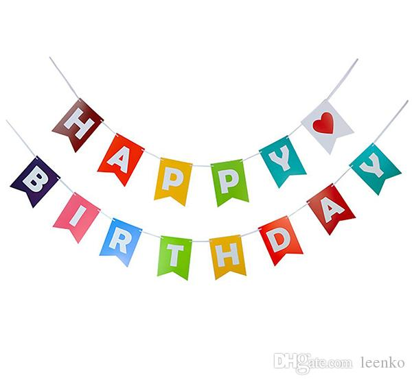 Fasion Happy Birthday Banners Garlands for Party Decoration House