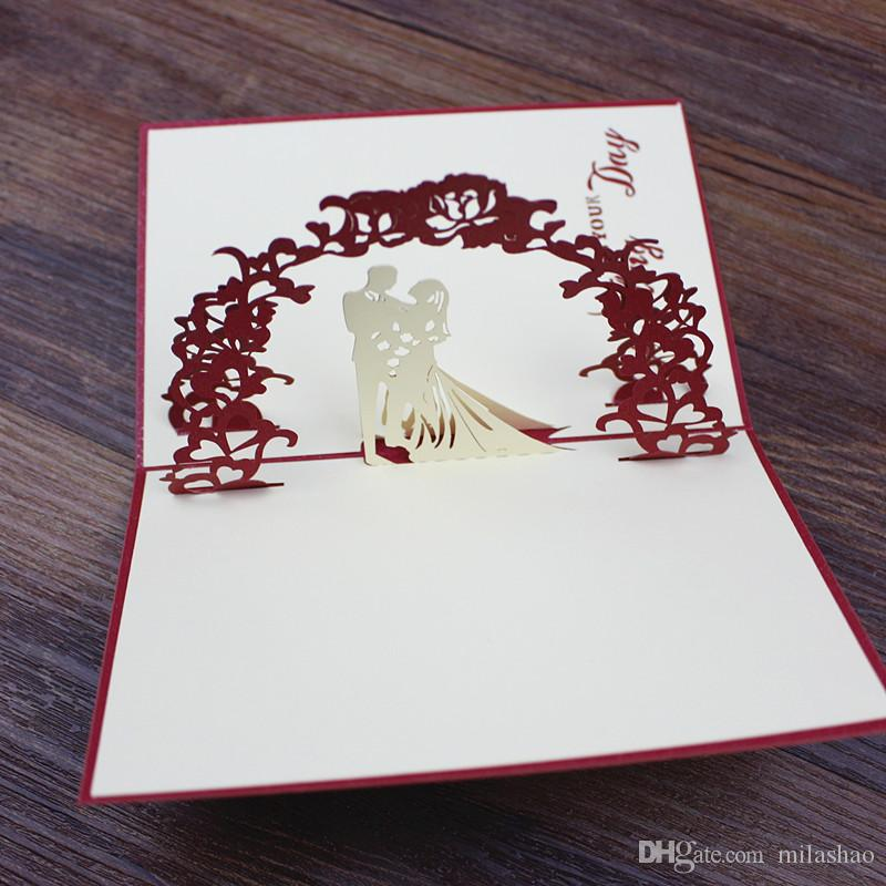 Valentine\u0027S Day Handmade Greeting Card Bride Groom Pop Up On Your