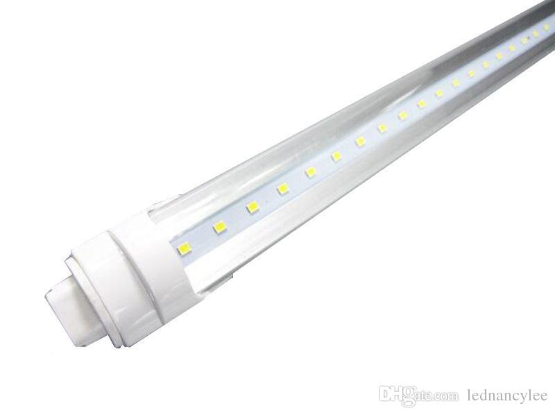 T8 LED Tube 8FT 96\u0027\u0027 Single Pin FA8 R17D T8 Tube Light Fixture 45W
