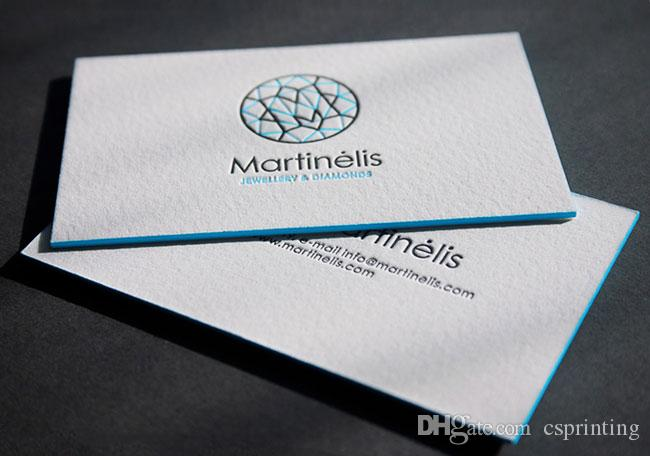 Custom Letterpress Business Cards Duplexed 600gsm Cotton Paper