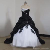Black And White Gothic Princess Wedding Dresses 2017 Ball ...