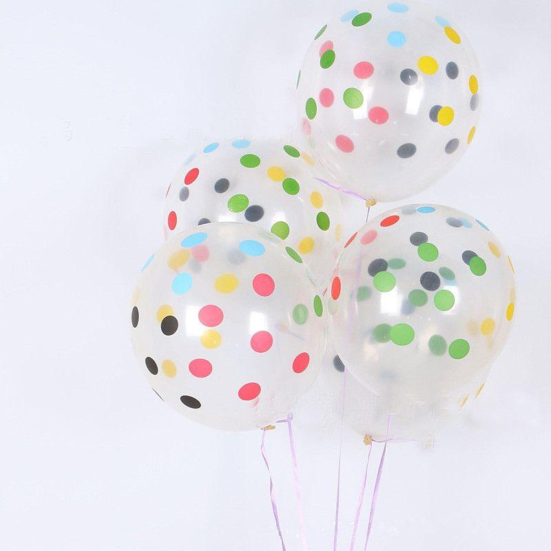 12Inch Transparent Print Dot Latex Balloons Magic Wedding