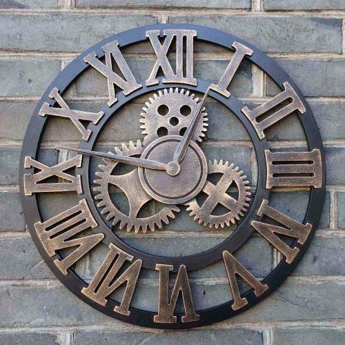 Medium Of Large Wall Clocks With Gears