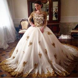 Small Of Gold Wedding Dress