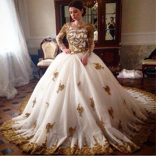 Medium Of Gold Wedding Dress