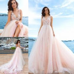 Small Of Pink Wedding Dresses