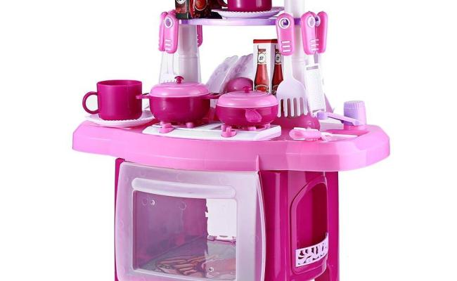 2019 Kids Kitchen Set Children Kitchen Toys Large Kitchen