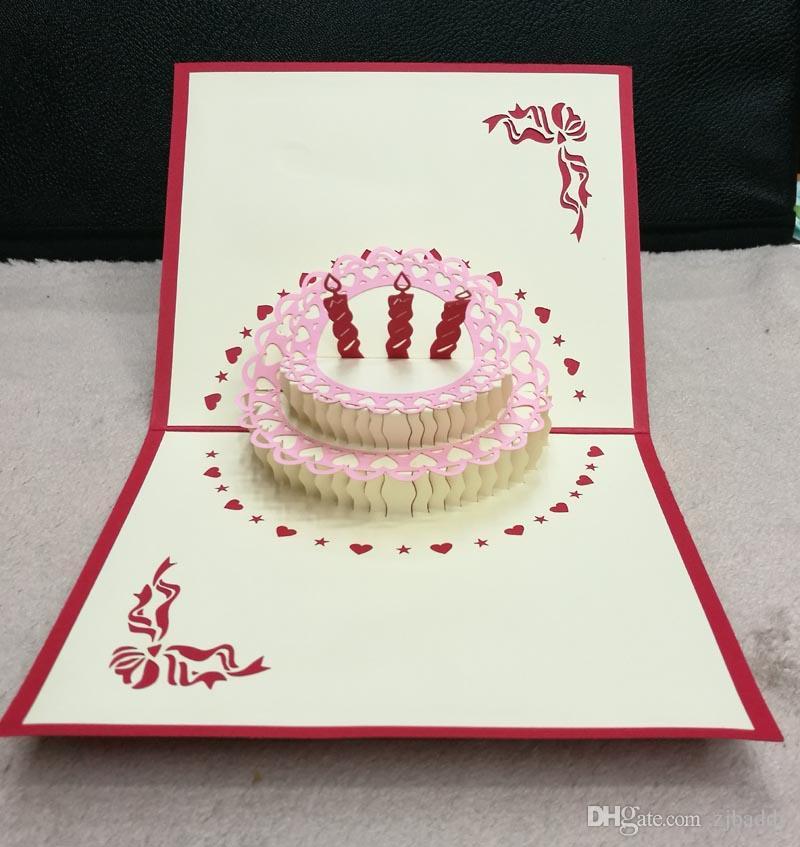 Compre Bolo De Aniversário Criativo Pequeno Cartão Dos Desenhos