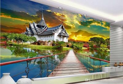 Customized 3d Mural HD Waterfall Landscape 3D TV Wall Wallpaper For Walls Photo Wall Mural For ...