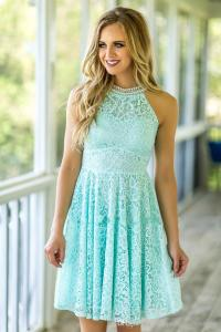 Mint Lace Bridesmaid Dresses 2017 Country Beach Weddings ...