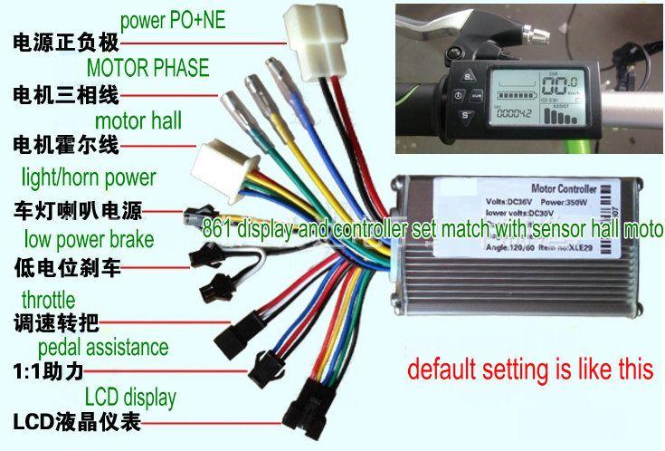 2019 24v36v48v250w350w Controller  LCD Display 861 Manual Control
