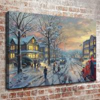 Thomas Kinkade Oil Painting Christmas Series HD Canvas ...