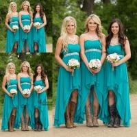 2017 Country Bridesmaid Dresses Hunter Teal Turquoise ...