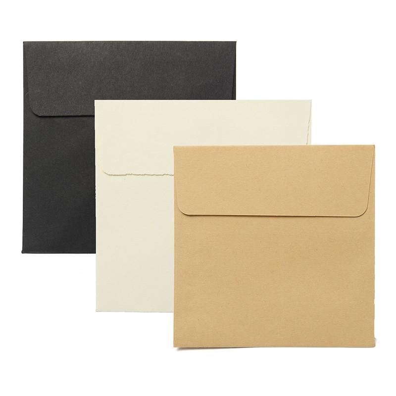 2019 Wholesale KiCute 10*10cm Kraft Square Mini Blank Envelopes For