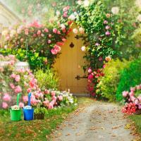 Spring Flowers Garden Backgrounds for Wedding Romantic ...