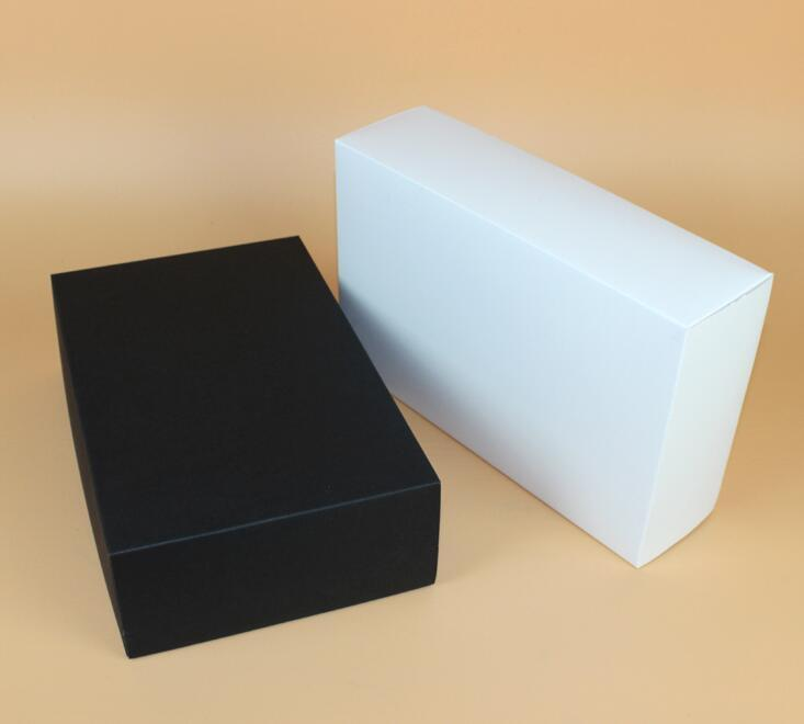 28*18*8cm Super Big White/black Corrugated Thick Black Paper Box - large gift boxes with lids
