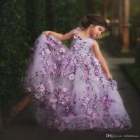 2017 Hot Sale Pretty Girls Prom Dresses Ball Gown Purple ...