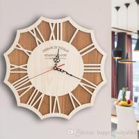 Wooden Wall Clocks Murals Designs Simple Europe Style ...
