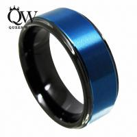 2018 Queenwish Promise Ring 8mm Black & Blue Tungsten Ring ...