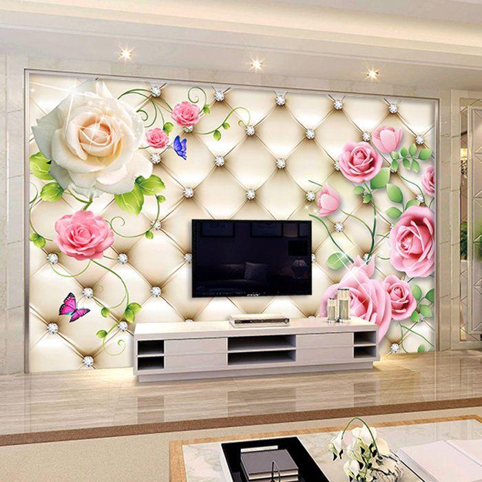 Custom Modern 3d Wallpaper Murals \/3d Stereoscopic Soft Bag Roses - 3d wallpaper for living room