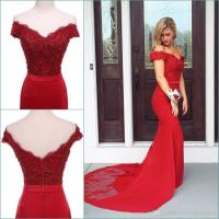 Sexy Long Red Prom Dresses Mermaid Off The Shoulder ...