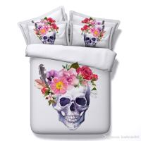 Skull And Flowers 3d Bedding Sets Comforter Sets Tiwn Full ...
