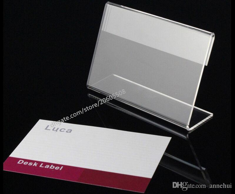 2018 Acrylic T13mm Clear L Shape Table Sign Price Tag