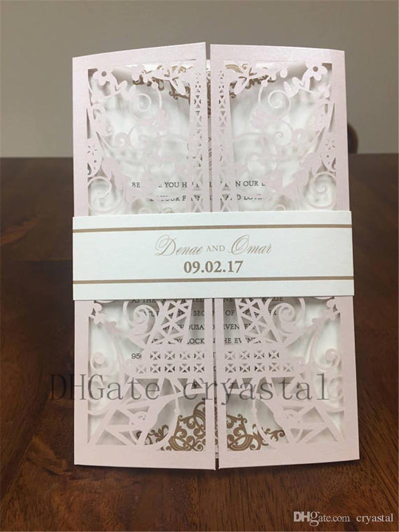 wedding invitations folding