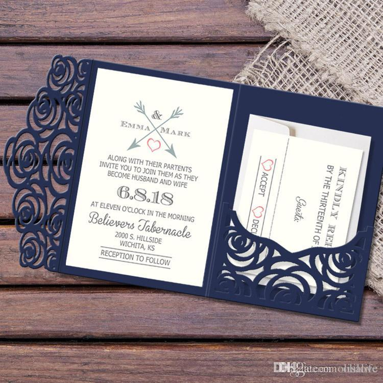 European 2018 Laser Hollow Personal Free Printed Invitation