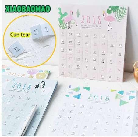 2019 Creative Can Be Torn Calendar Paper Label Counter Mark Creative