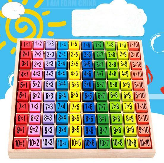 2019 Multiplication Table Math Toys 10x10 Double Side Pattern