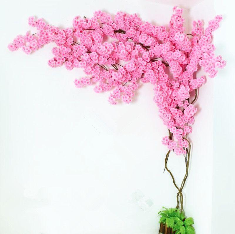 Compre Falsa Flor De Cerezo Rama Más Cabezas De Flores Sakura Tallo