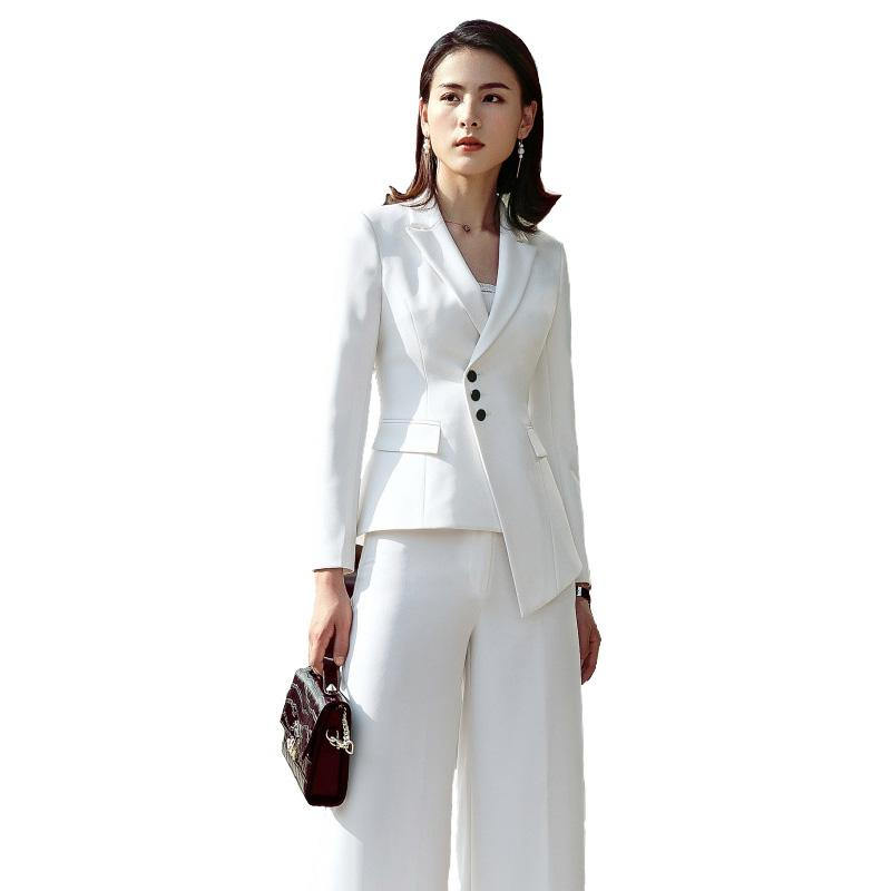 2019 2018 Suit Women New Fashion Business Interview Host Overalls