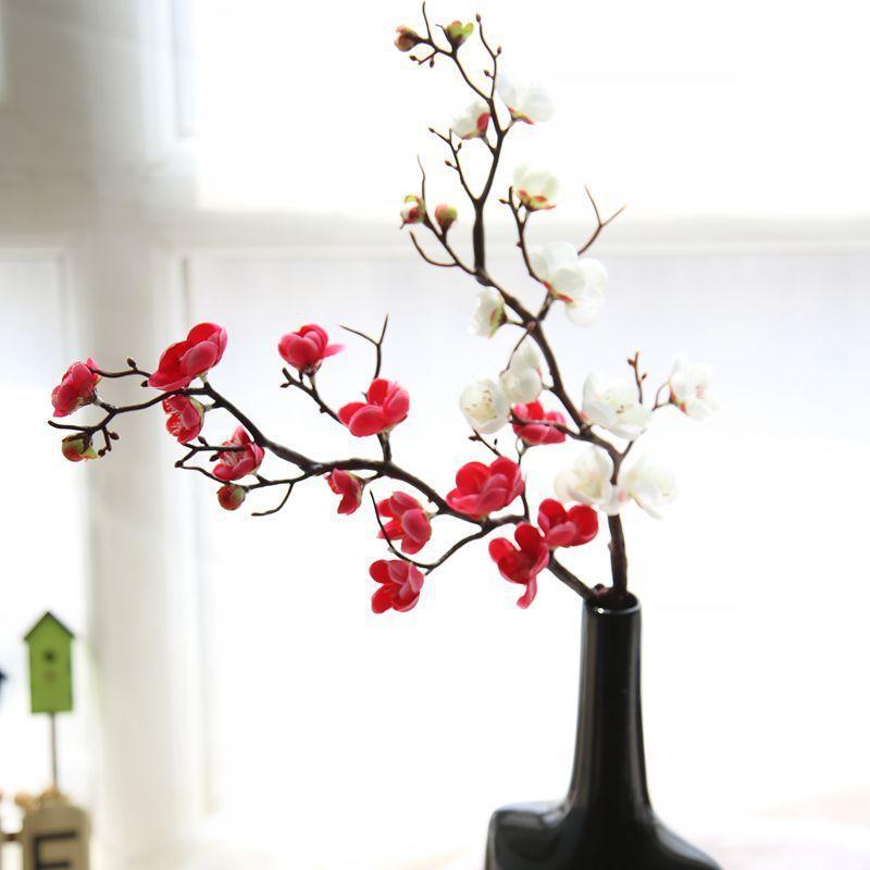 Compre 150 Unids Ciruelo Flores De Cerezo De Seda Flores