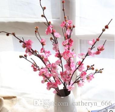 Compre Elegante Seda Japonesa Flores De Cerezo Flor Ramas Decoración