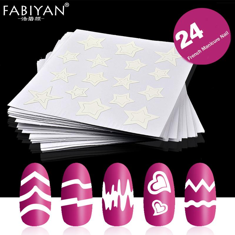 Nail Art Sticker Stencil Tips Guides Form Fringe French Style Swirls
