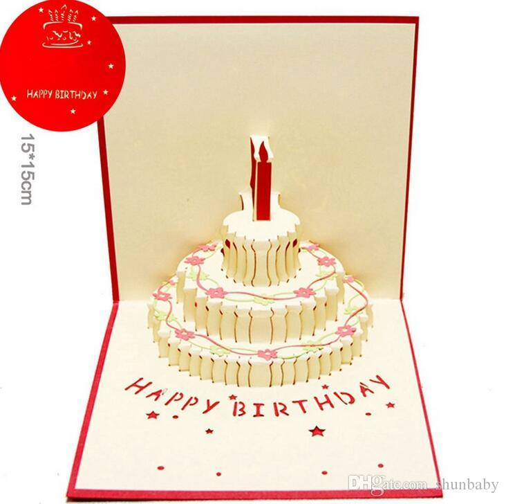 Compre 3D Pop Up Feliz Aniversário Presentes Cartões De Convite