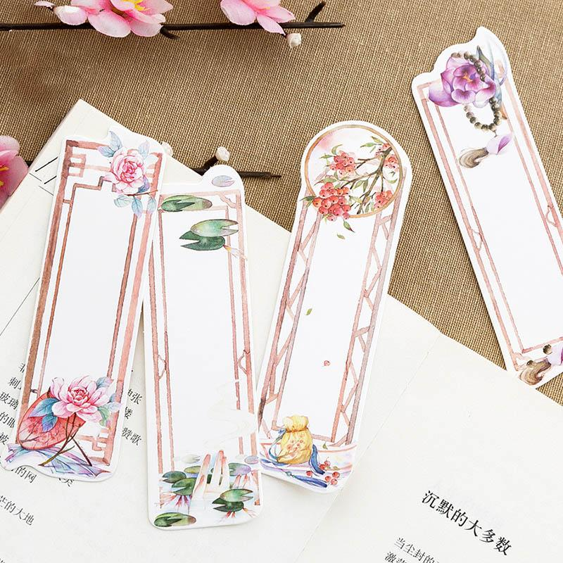 2019 Hot Sale Chinese Retro Bookmark Creative Flowers Paper Book
