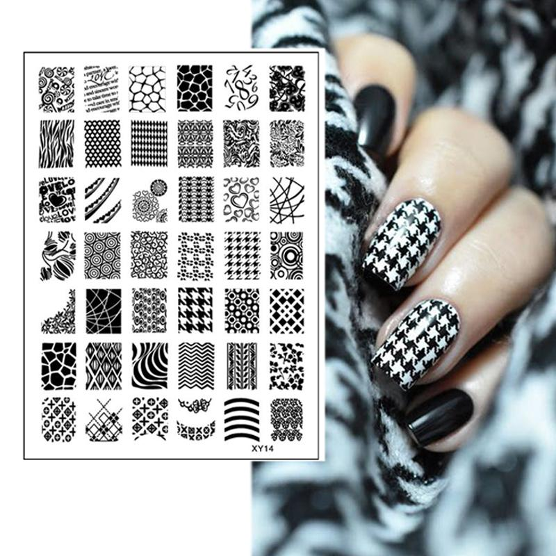 Beauty Tools Houndstooth Heart Wave Grid Alphabet Numbers Designs