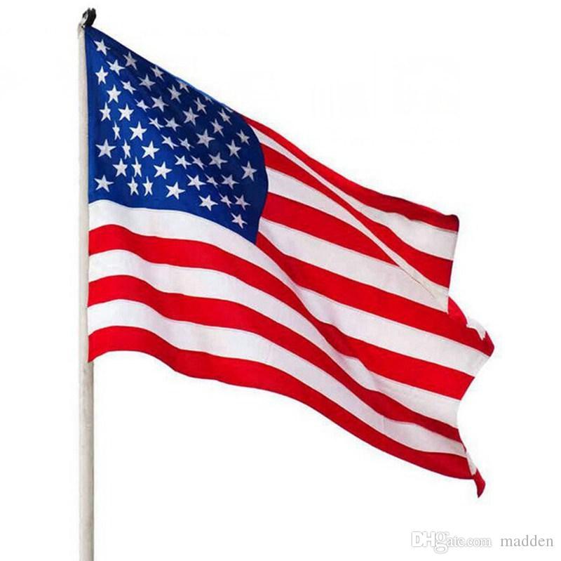 90cmx150cm Polyester USA American Flag US United States Stars