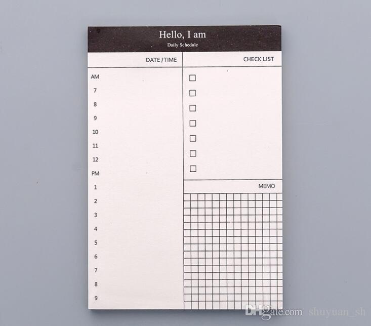 2019 Small Portable Check List Diary Schedule To Do List Notepads